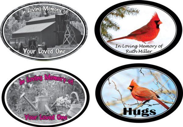 Memorial Decal Examples